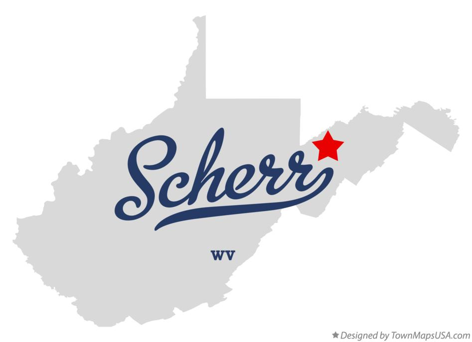 Map of Scherr West Virginia WV