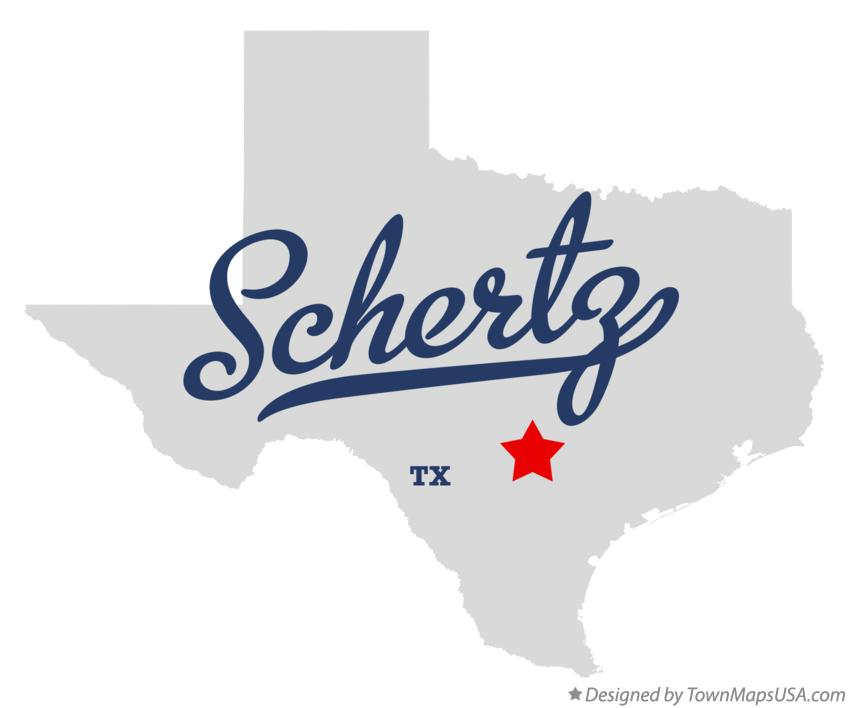 Map of Schertz Texas TX