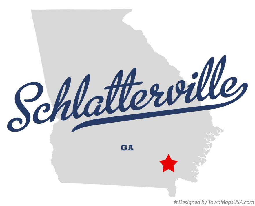 Map of Schlatterville Georgia GA