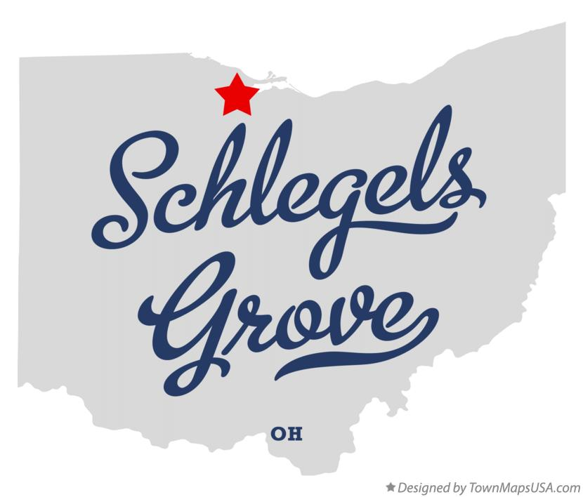 Map of Schlegels Grove Ohio OH