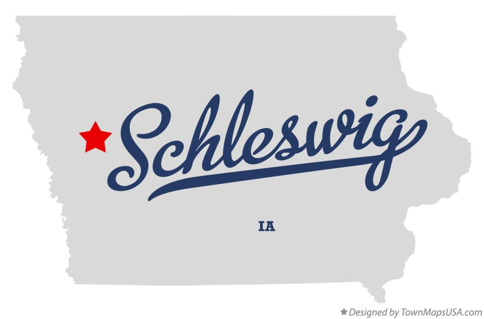 Map of Schleswig Iowa IA