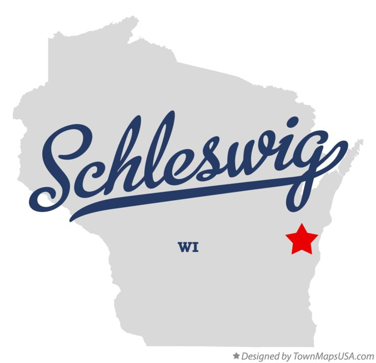 Map of Schleswig Wisconsin WI