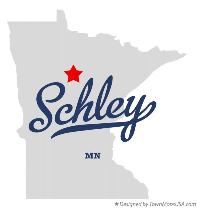 Map of Schley Minnesota MN