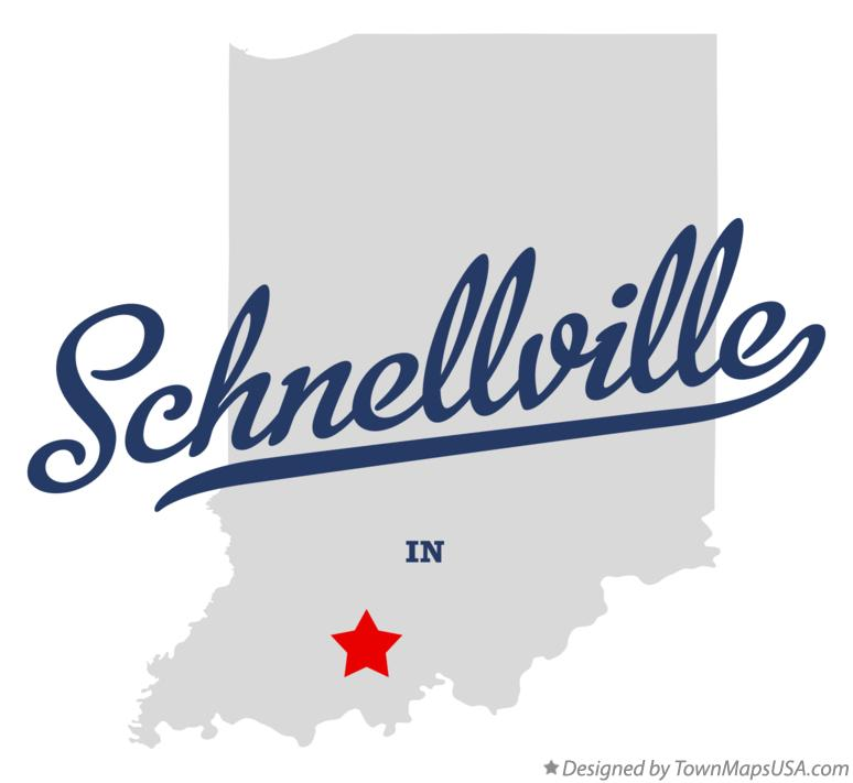 Map of Schnellville Indiana IN