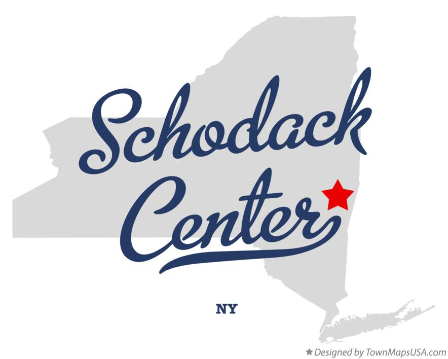 Map of Schodack Center New York NY