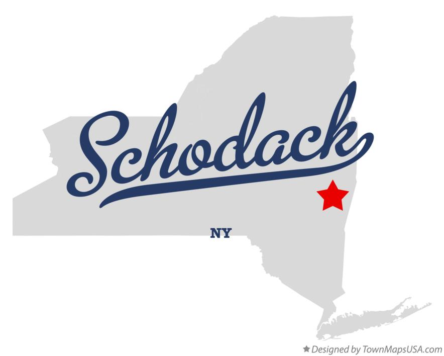 Map of Schodack New York NY