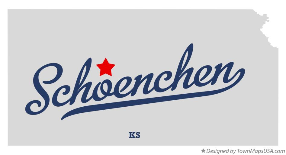 Map of Schoenchen Kansas KS