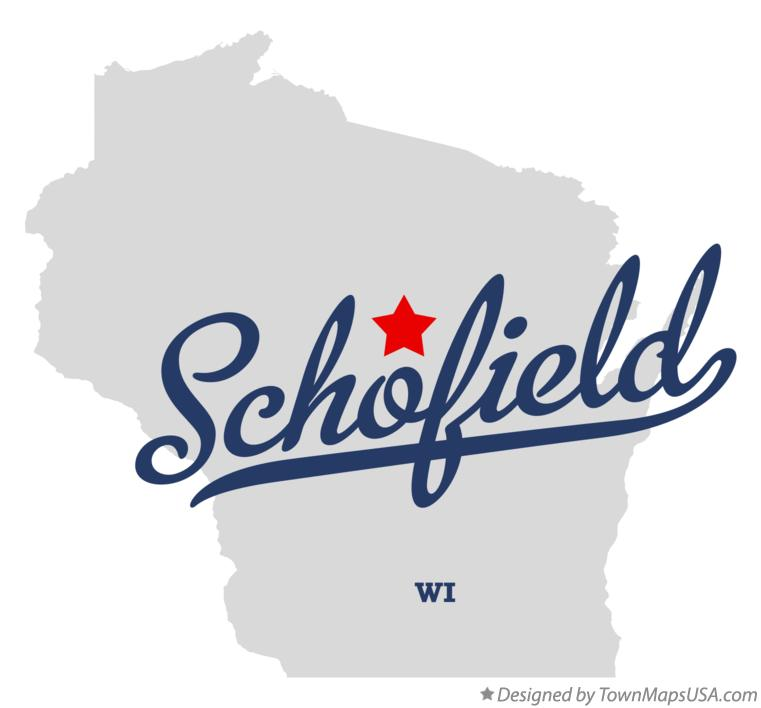 Map of Schofield Wisconsin WI
