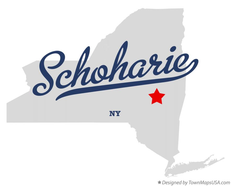 Map of Schoharie New York NY