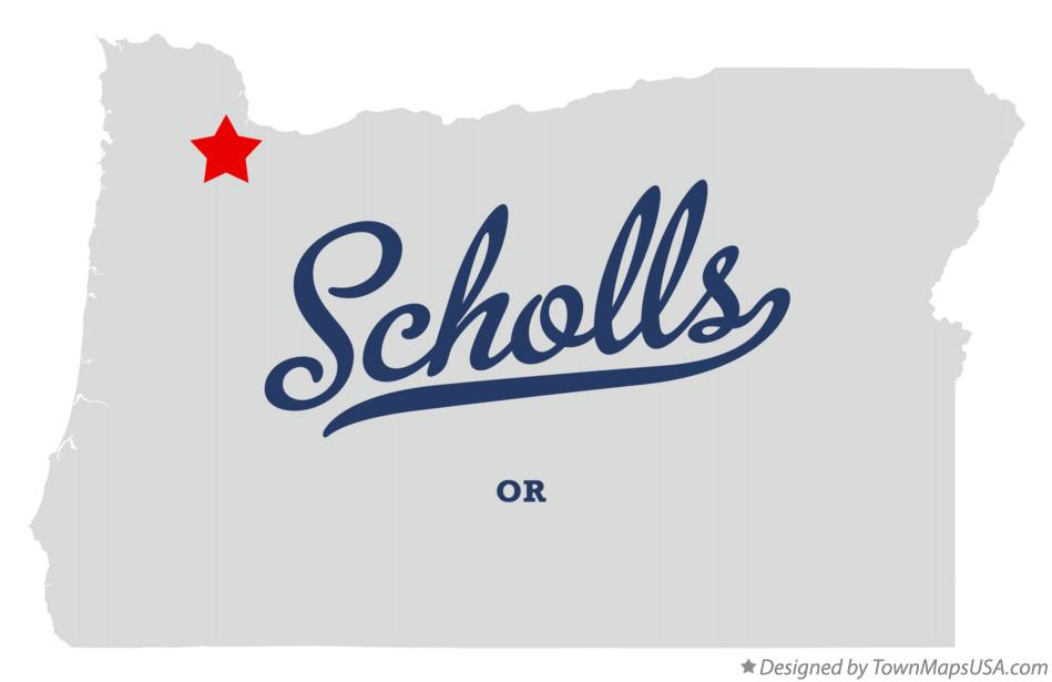 Map of Scholls Oregon OR