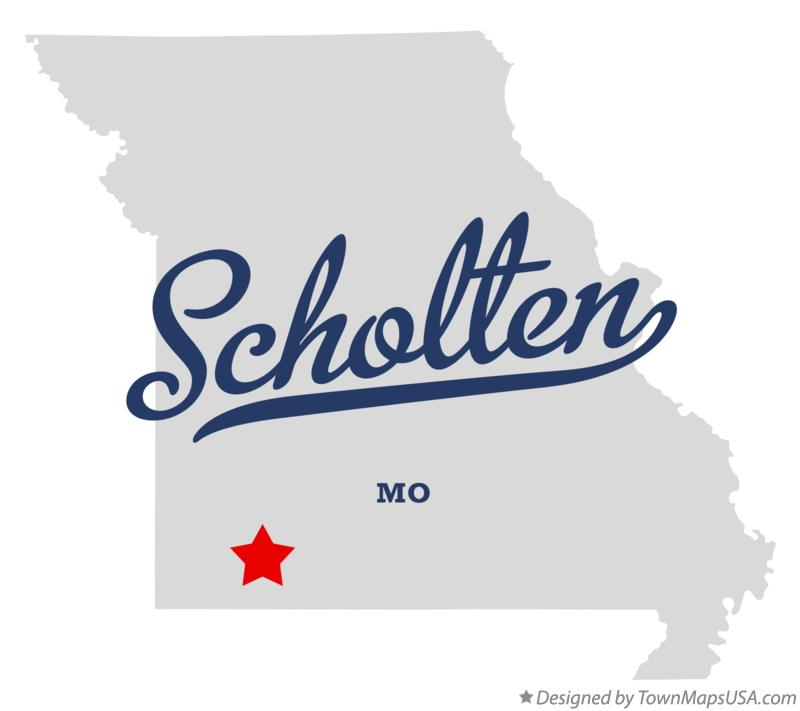 Map of Scholten Missouri MO