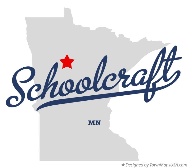 Map of Schoolcraft Minnesota MN
