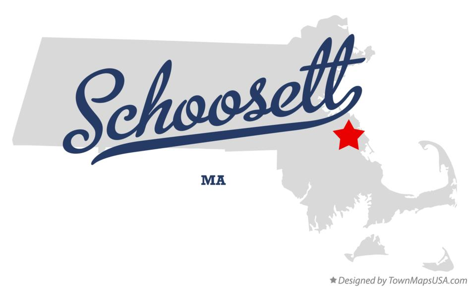Map of Schoosett Massachusetts MA