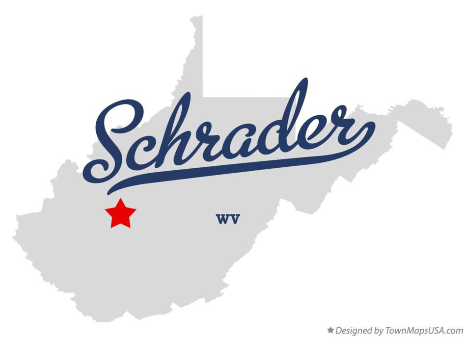 Map of Schrader West Virginia WV