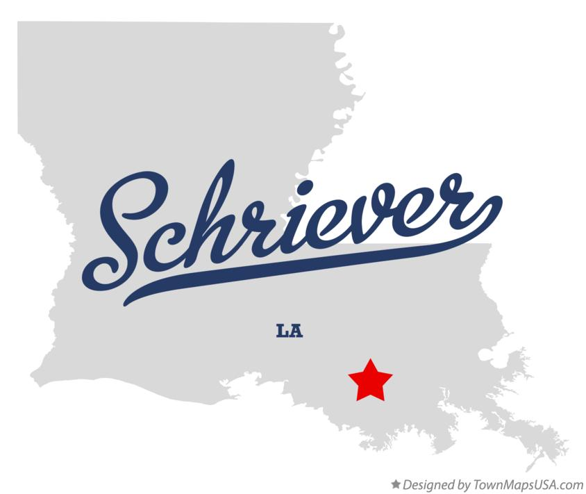 Map of Schriever Louisiana LA