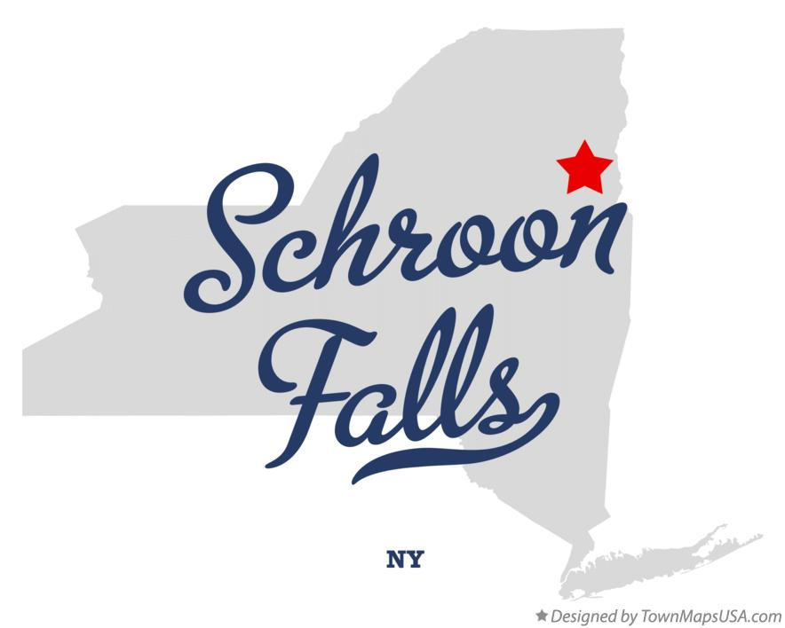 Map of Schroon Falls New York NY