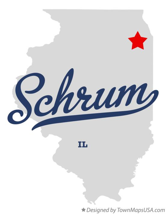 Map of Schrum Illinois IL