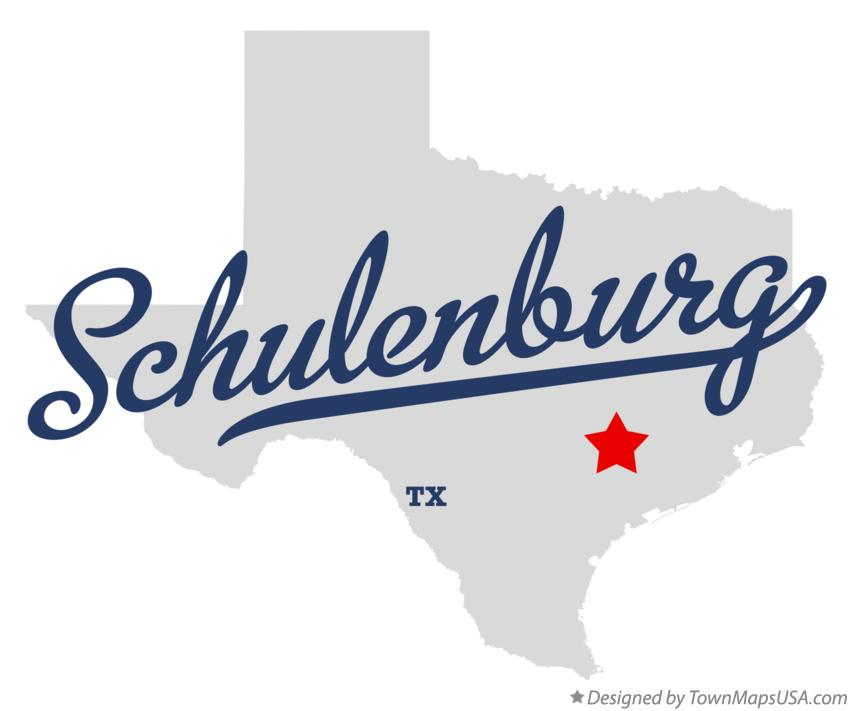 Map of Schulenburg Texas TX