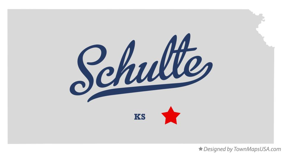 Map of Schulte Kansas KS