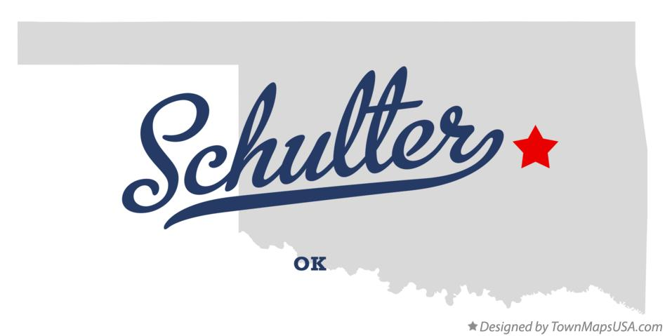 Map of Schulter Oklahoma OK