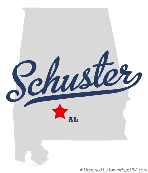 Map of Schuster Alabama AL