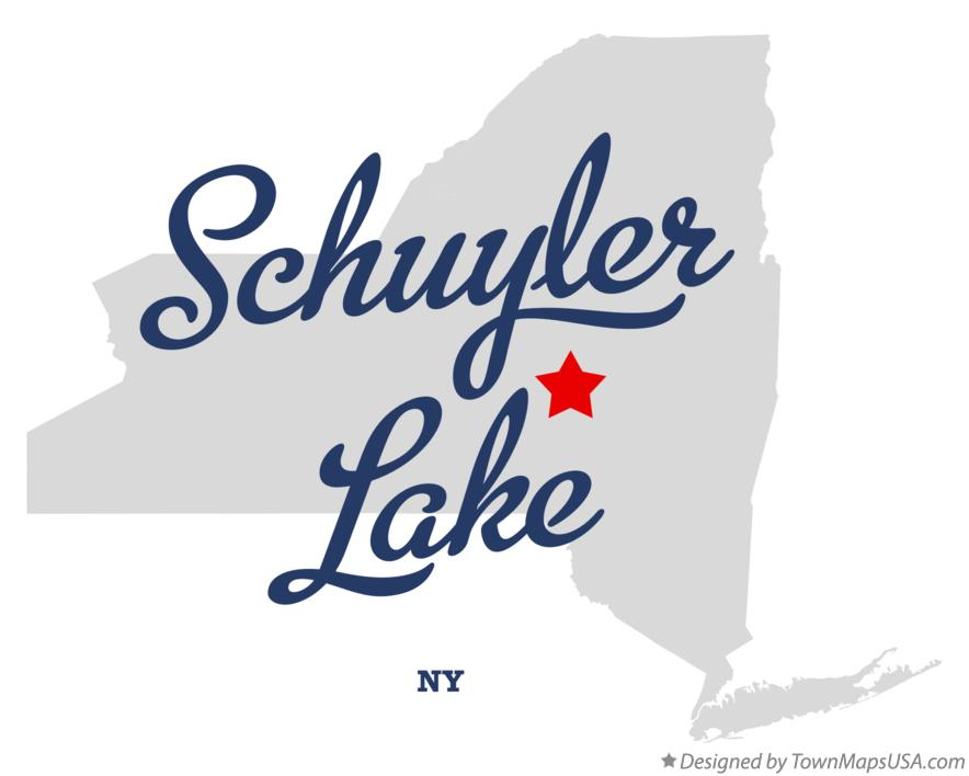 Map of Schuyler Lake New York NY