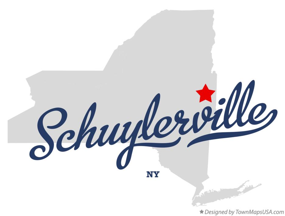 Map of Schuylerville New York NY
