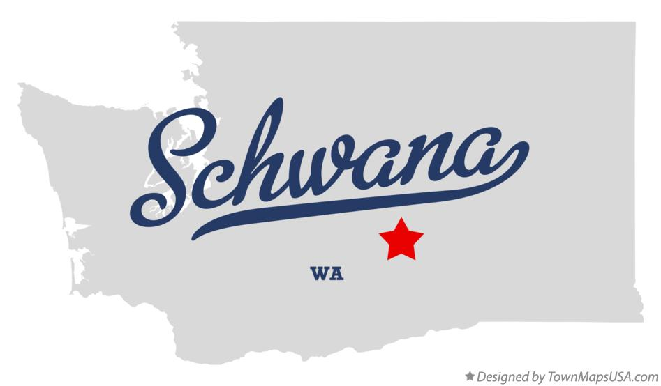 Map of Schwana Washington WA