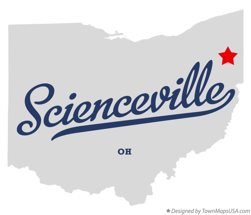 Map of Scienceville Ohio OH