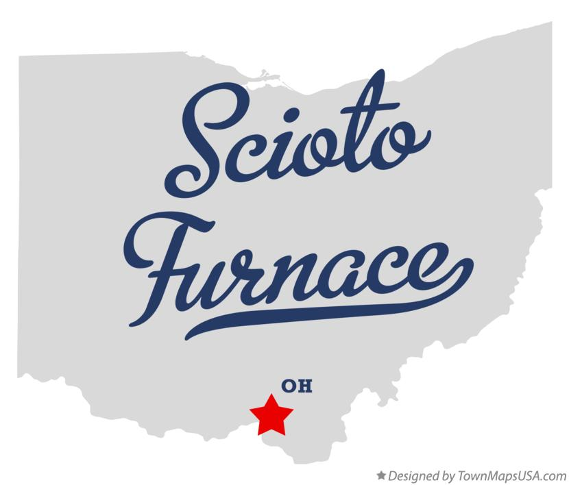 Map of Scioto Furnace Ohio OH
