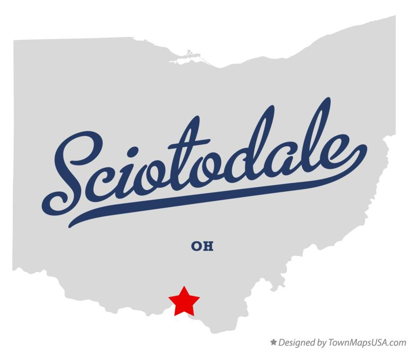 Map of Sciotodale Ohio OH