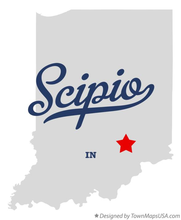 Map of Scipio Indiana IN