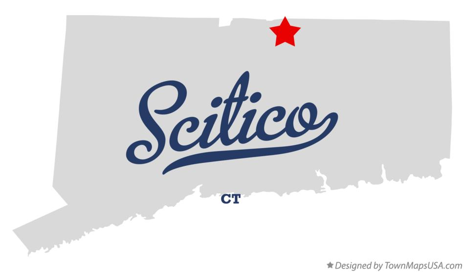 Map of Scitico Connecticut CT