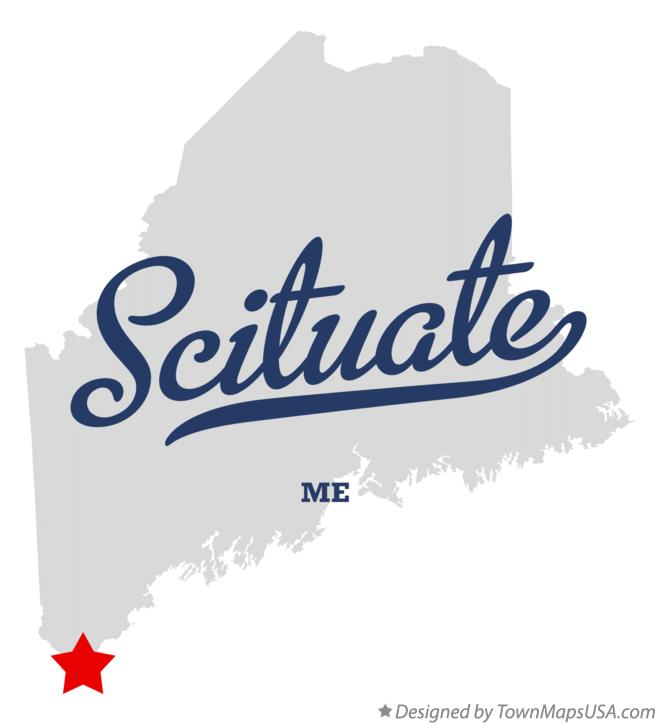 Map of Scituate Maine ME