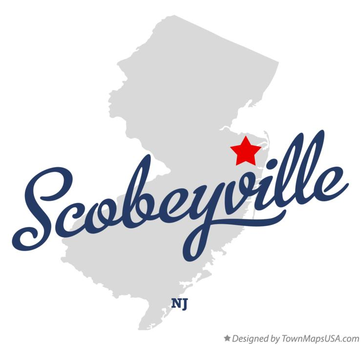 Map of Scobeyville New Jersey NJ
