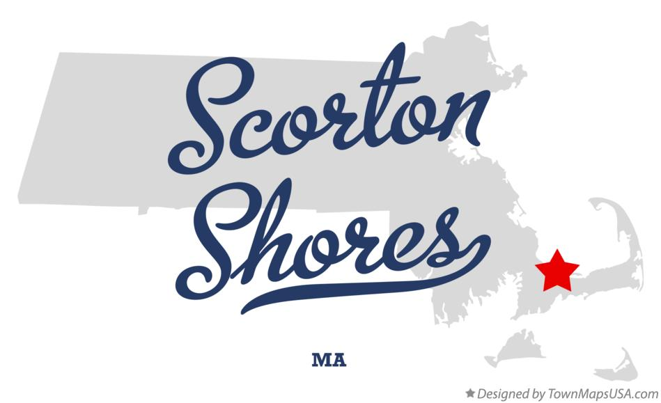 Map of Scorton Shores Massachusetts MA