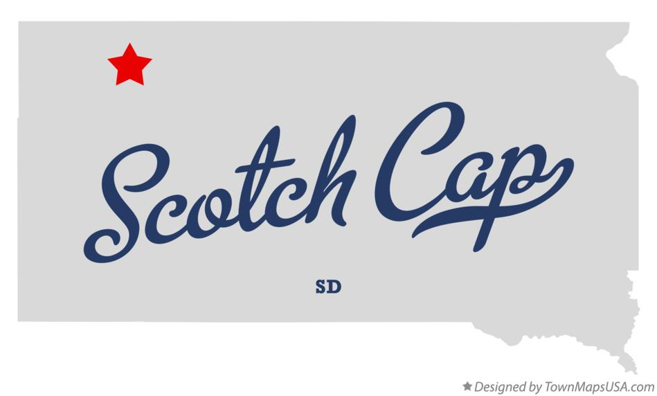 Map of Scotch Cap South Dakota SD