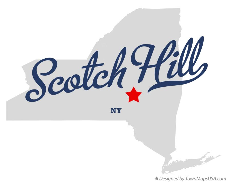 Map of Scotch Hill New York NY