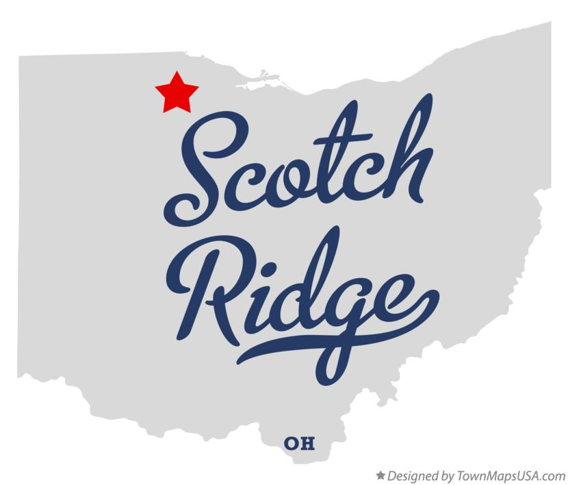Map of Scotch Ridge Ohio OH