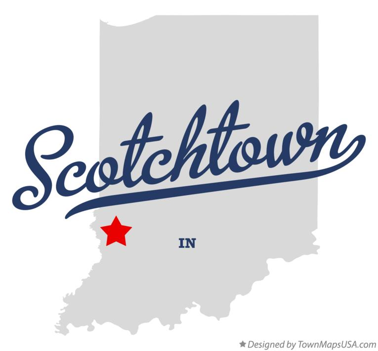 Map of Scotchtown Indiana IN