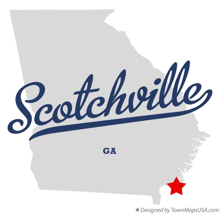 Map of Scotchville Georgia GA