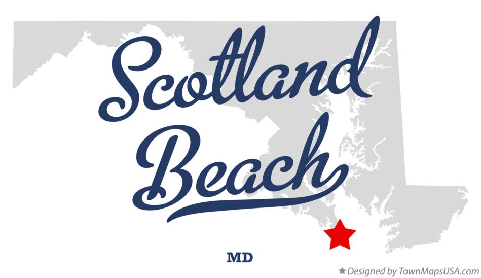 Map of Scotland Beach Maryland MD