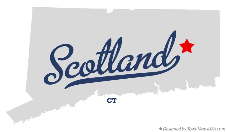 Map of Scotland Connecticut CT