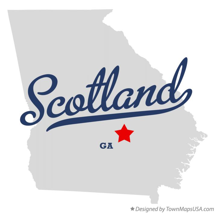 Map of Scotland Georgia GA