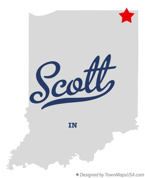 Map of Scott Indiana IN