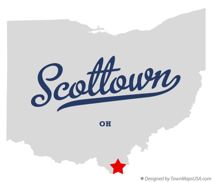 Map of Scottown Ohio OH