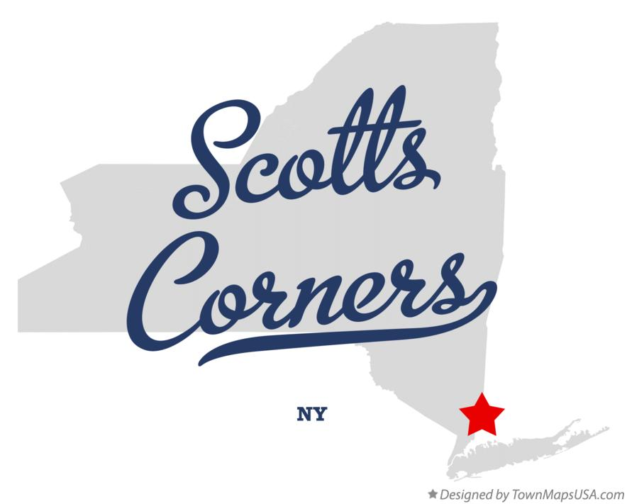 Map of Scotts Corners New York NY