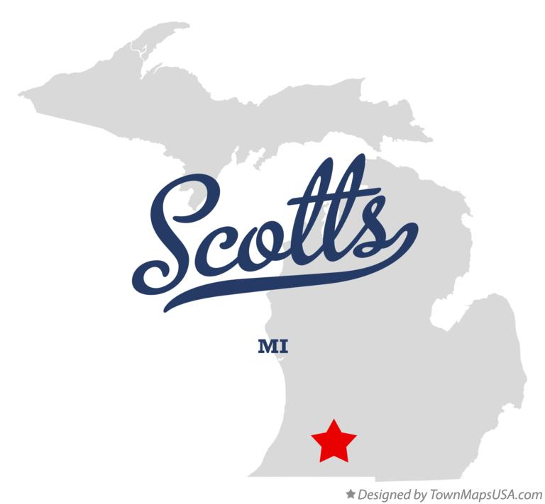 Map of Scotts Michigan MI