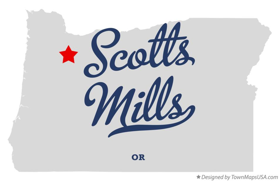 Map of Scotts Mills Oregon OR