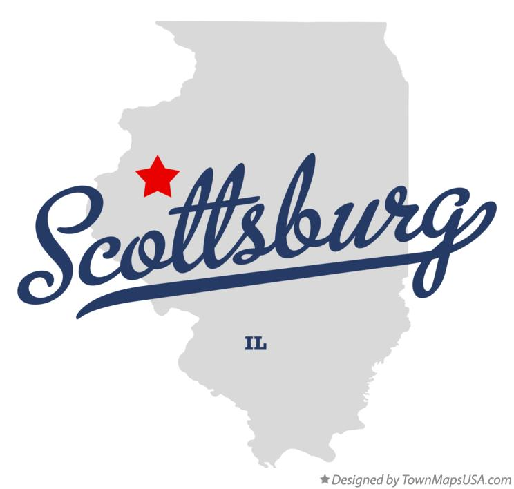 Map of Scottsburg Illinois IL
